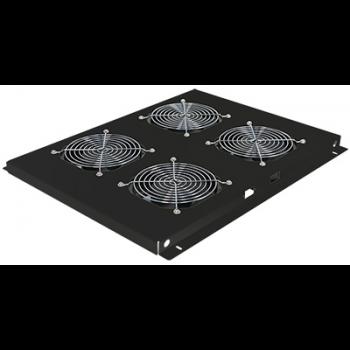 Блок вентиляторов для шкафов TFC глубиной 960мм, 4 вентилятора, черный (следы монтажа, помята упаковка)