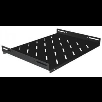 """Полка стационарная для шкафов 19"""" глубиной 600мм, черная (470*350*48)"""