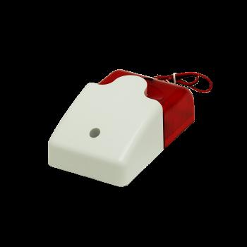 Звуковой и световой сигнализатор, сирена 110дб, красный