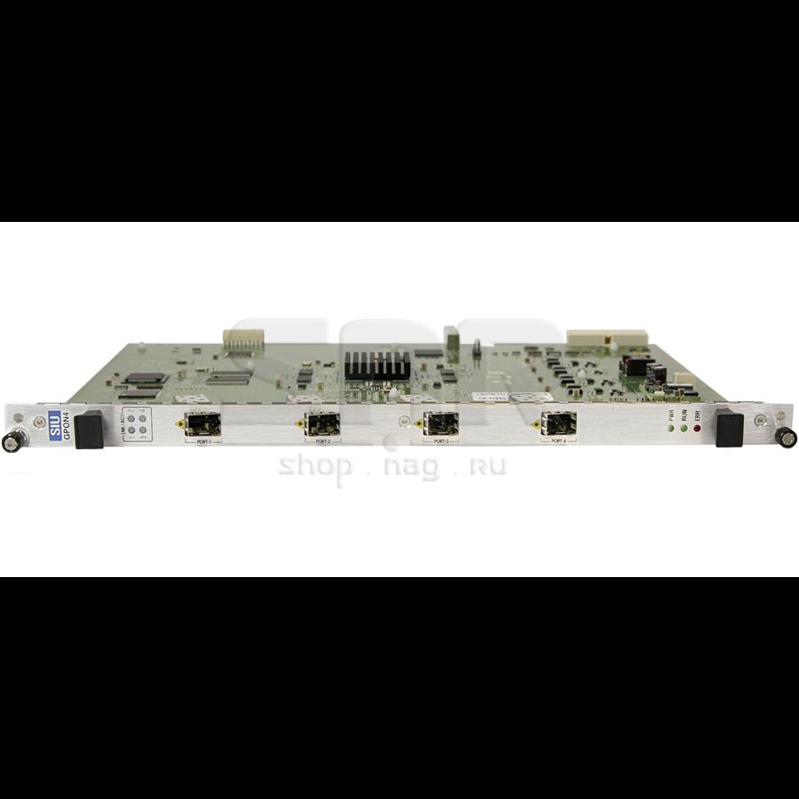 Сервисная интерфейсная карта с 4 портами GPON