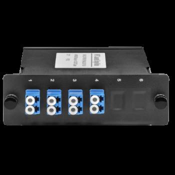 Кассета одномодовая распределительная MPO на 8LC/UPC портов