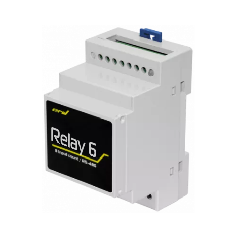 Блок управления нагрузками, 6 реле по 16 Ампер, крепление DIN, RS485, MODBUS, Дискретные входы, Индикация