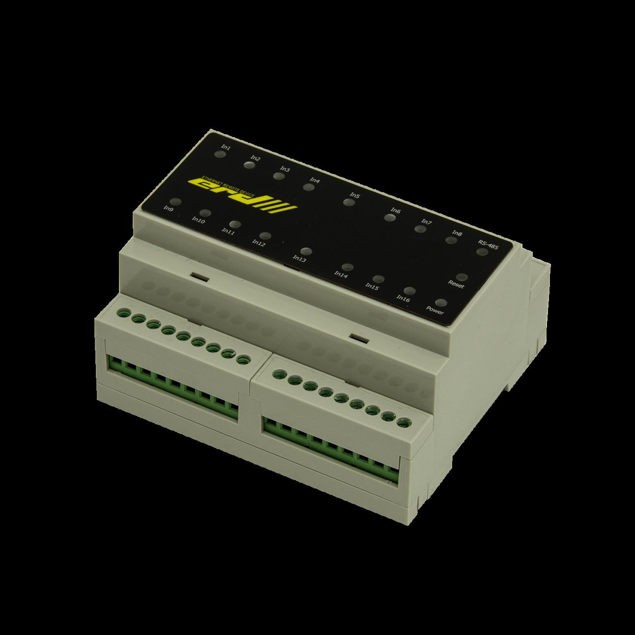 Блок управления нагрузками, 8 реле по 16 Ампер, крепление DIN, RS485, MODBUS, Дискретные входы, Индикация