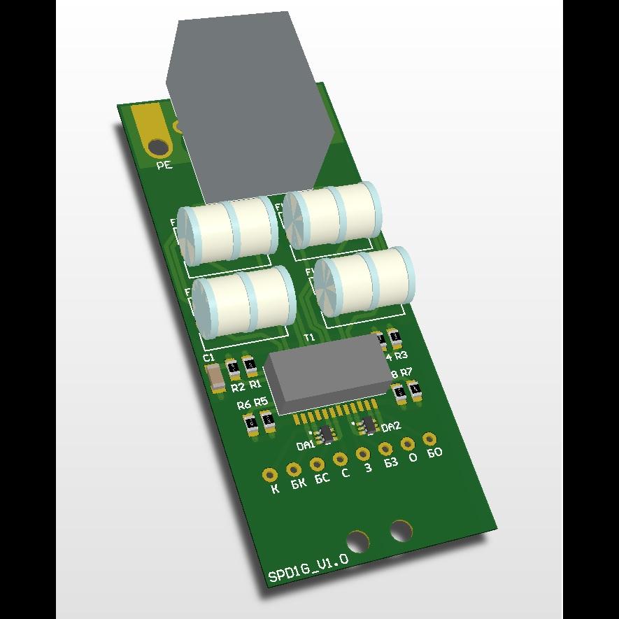 Грозозащита Ethernet SNR-SPD-1.1G, гальваноразвязка, 10/100/1000 Base