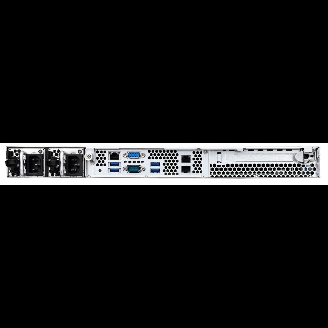 Серверная платформа SNR-SR160R-V5, 1U, E3-1200v5, DDR4, 4xHDD, резервируемый БП