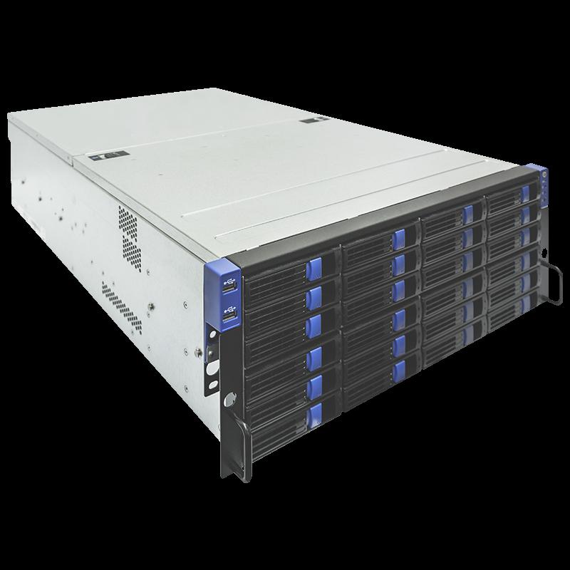 """Серверная платформа SNR-SR36H, 4U, Е5-2600v2, DDR3, 36xHDD 2,5""""/3,5"""", резервируемый БП"""