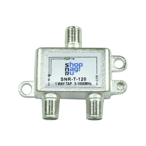 Ответвитель абонентский SNR-T-210 на 2 отвода вносимое затухание IN-TAP 10dB.