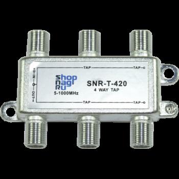 Ответвитель абонентский SNR-T-410, на 4 отвода, вносимое затухание IN-TAP 10dB.