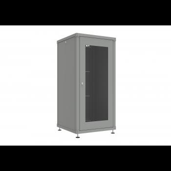 Шкаф телекоммуникационный напольный 27U 600x600мм, серия TFC, укомплектованный (SNR-TFC-276060-GN-G-V1)