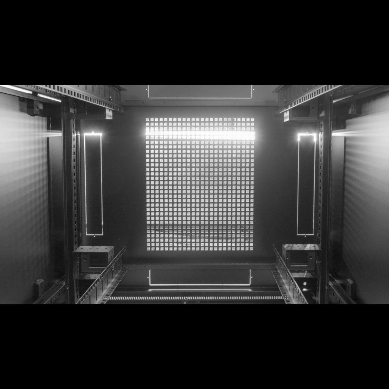 Шкаф телекоммуникационный напольный 42U 800x800мм, серия TFC (SNR-TFC-428080-CPDP-B)