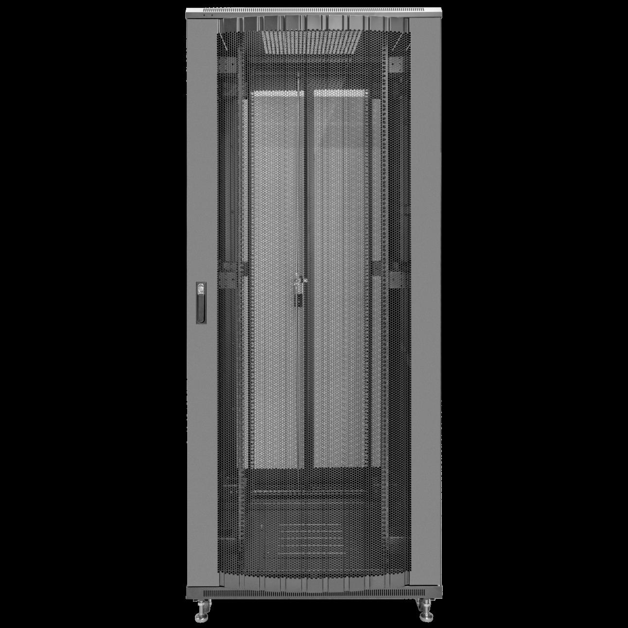 Шкаф телекоммуникационный напольный 47U 800x800мм, серия TFC (SNR-TFC-478080-CPDP-B)