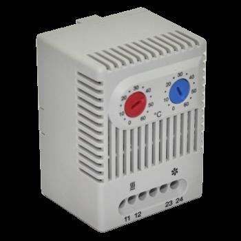 Блок управления климатом (термостат) для вентиляторов и обогревателей (сдвоенный)