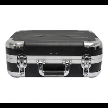Кейс для инструментов с алюминиевым каркасом и перегородкой (черный)