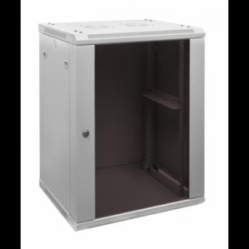 Шкаф телекоммуникационный настенный 12 U 600х650х610  вентилируемый тип.2, дверь стекло
