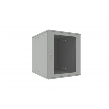 Шкаф телекоммуникационный настенный 12U, 523х600х599мм серия LITE (стеклянная дверь)