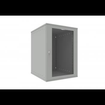 Шкаф телекоммуникационный настенный 15U, 523х600х732мм серия LITE (стеклянная дверь)