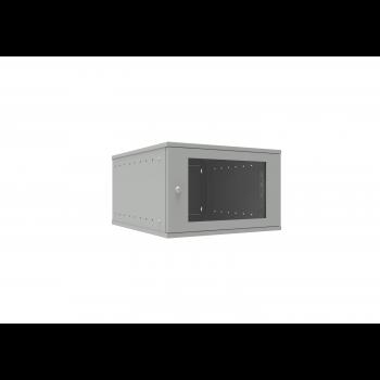 Шкаф телекоммуникационный настенный 6U, 523х600х332мм серия LITE (стеклянная дверь)