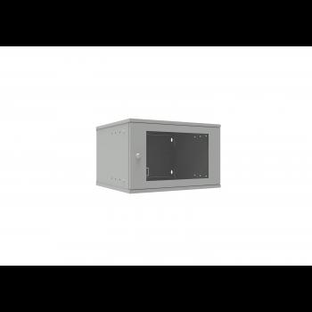 Шкаф телекоммуникационный настенный 6U, 523х450х332мм серия LITE (стеклянная дверь)
