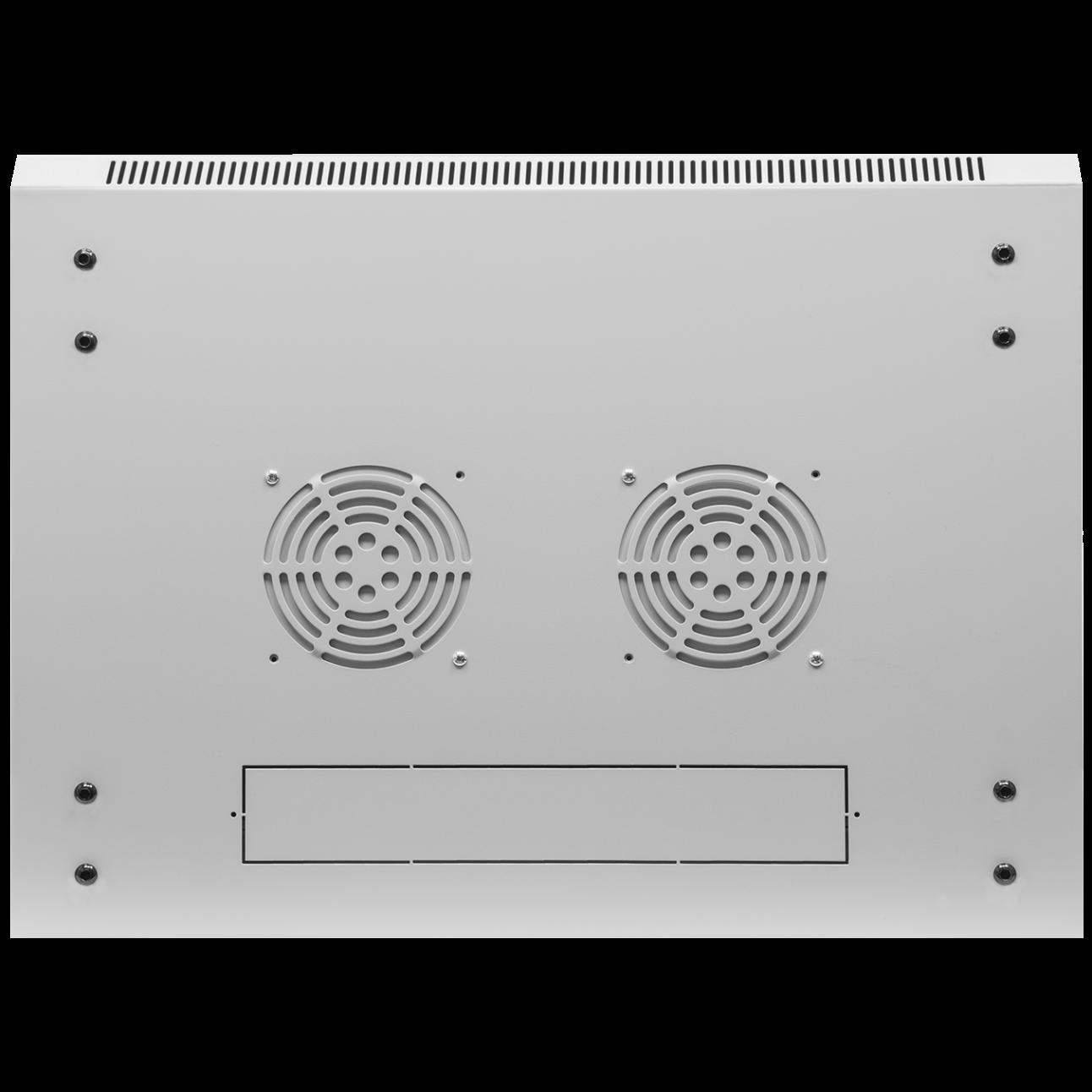 Шкаф телекоммуникационный настенный 6U, 600х450х370мм (металлическая дверь)