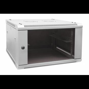 Шкаф телекоммуникационный настенный 6U, 370х600х450мм (ВхШхГ)