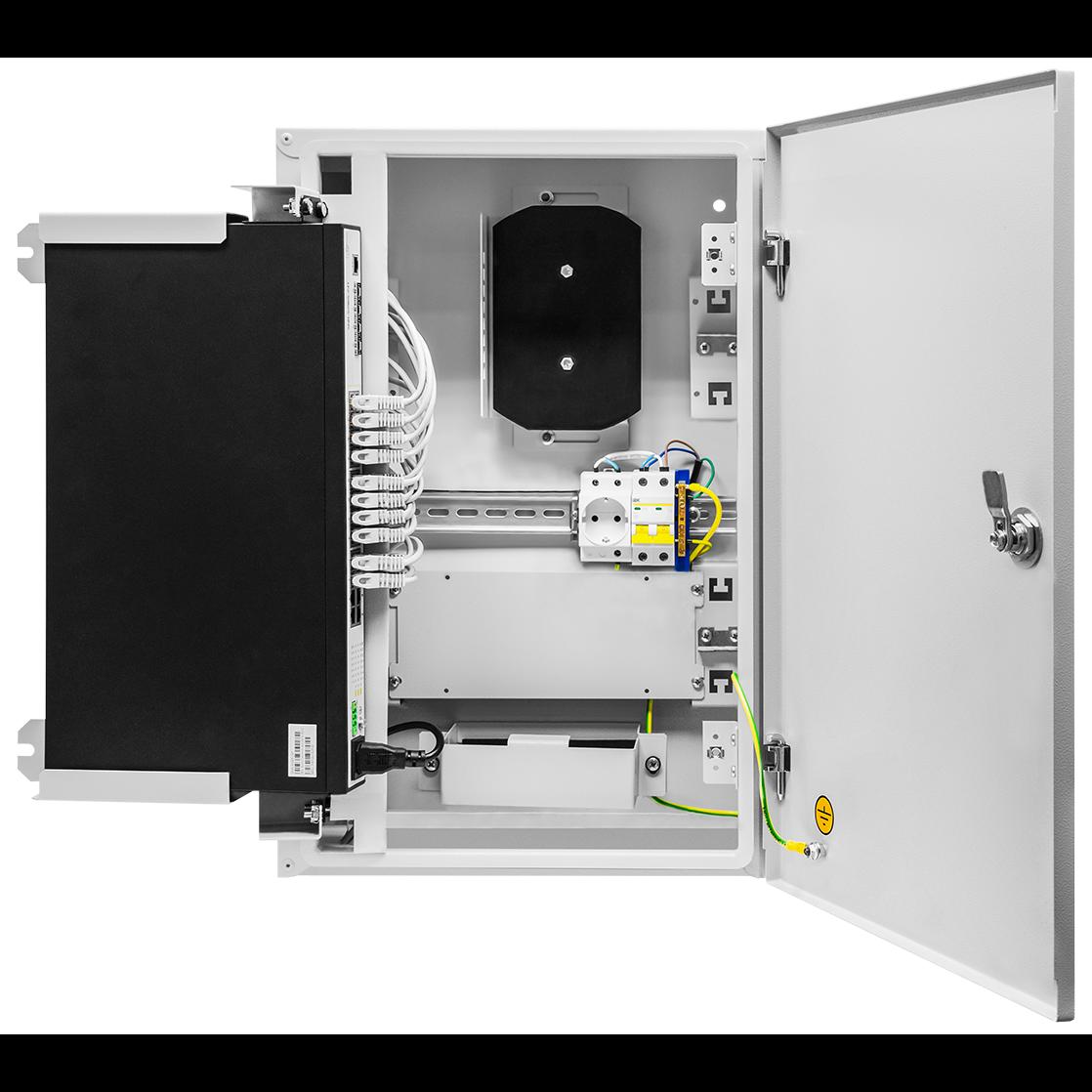 Шкаф телекоммуникационный для узла доступа 600х400x200мм, серия RT с блоком питания (SNR-TWC-604020-RTU-IP30)