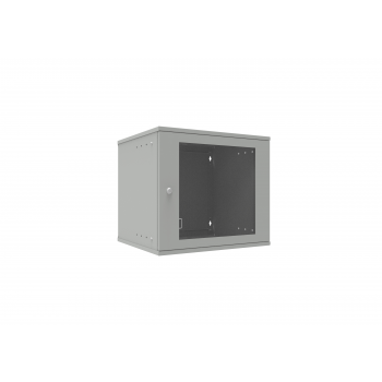 Шкаф телекоммуникационный настенный 9U, 523х450х465мм серия LITE (стеклянная дверь)