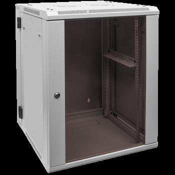 Шкаф телекоммуникационный настенный 15U, 600х550х770мм двухсекционный