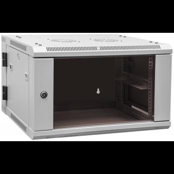 Шкаф телекоммуникационный настенный 6U, 600х550х370мм двухсекционный