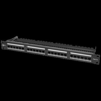 """Коммутационная панель SNR, 19"""" неэкранированная, 1U, 24 порта, cat.5e, горизонтальная заделка"""
