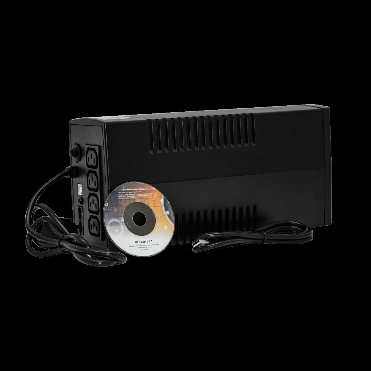 Источник бесперебойного питания Line-Interactive, 600 VA, LED серия PRO, выходные розетки IEC320 C13