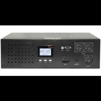 Источник бесперебойного питания Line-Interactive, 3000 VA, Rackmount LCD (чистый синус на выходе)