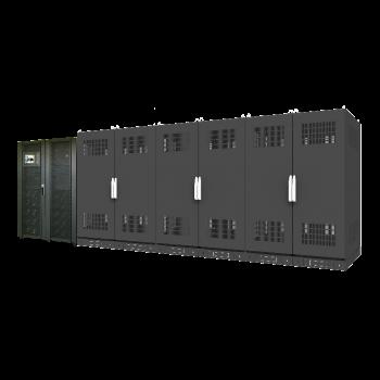 Система бесперебойного питания 500 кВА/450 кВт серии SМ, 10 силовых модулей 50 кВА/45 кВт, время автономной работы 10мин (SNR-UPS-ONT-500-50SMX33-KIT)