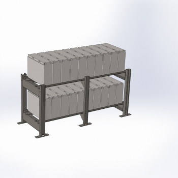 Аккумуляторный стеллаж 2 полки, 600х1300х500мм (SNR-UPS-RACK-061305-2)