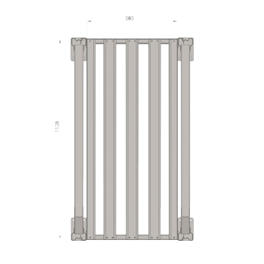 Аккумуляторный стеллаж 5 полок, 2498х686х1135мм (SNR-UPS-RACK-257012-5)
