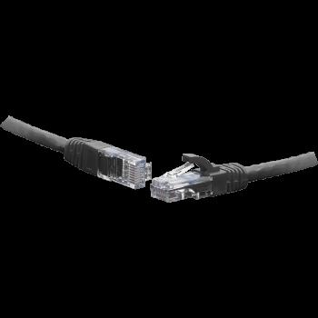 Коммутационный шнур U/UTP 4-х парный cat.5e 0.3м LSZH standart чёрный