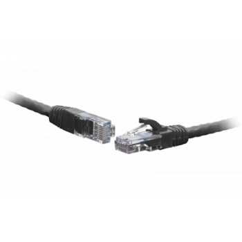 Коммутационный шнур U/UTP 4-х парный cat.5e 0.5м LSZH standart чёрный