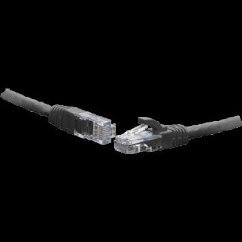 Коммутационный шнур U/UTP 4-х парный cat.5e 1.0м LSZH standart чёрный