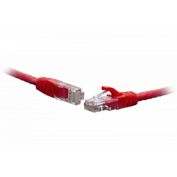 Коммутационный шнур U/UTP 4-х парный cat.5e 5,0м. LSZH standart красный