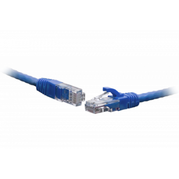 Коммутационный шнур U/UTP 4-х парный cat.5e 10.0м LSZH standart синий