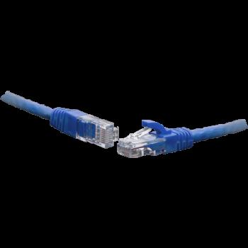 Коммутационный шнур U/UTP 4-х парный cat.5e 10.0м PVC standart синий
