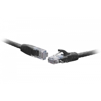 Коммутационный шнур U/UTP 4-х парный cat.6 0.3м PVC standart чёрный