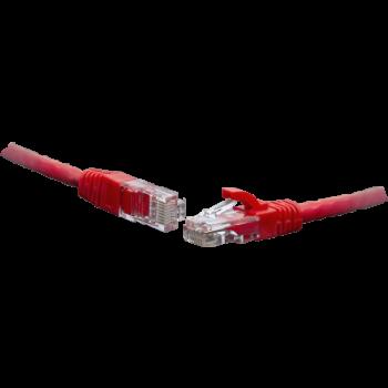 Коммутационный шнур U/UTP 4-х парный cat.6 0.3м PVC standart красный