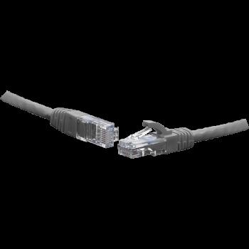 Коммутационный шнур U/UTP 4-х парный cat.6 0.5м PVC standart серый