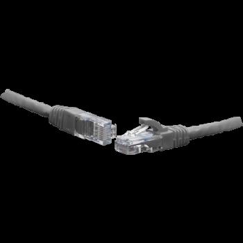 Коммутационный шнур U/UTP 4-х парный cat.6 1.0м PVC standart серый