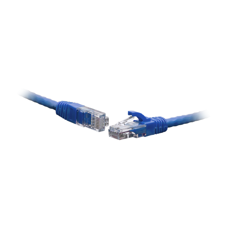 Коммутационный шнур U/UTP 4-х парный cat.6 3.0м PVC standart синий