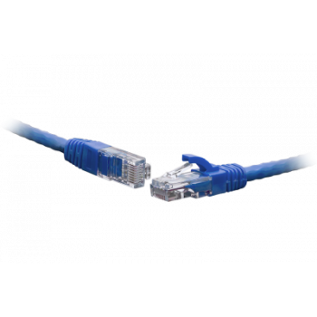 Коммутационный шнур U/UTP 4-х парный cat.6 5,0м. PVC standart синий