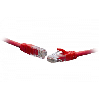 Коммутационный шнур U/UTP 4-х парный cat.6 10.0м PVC standart красный