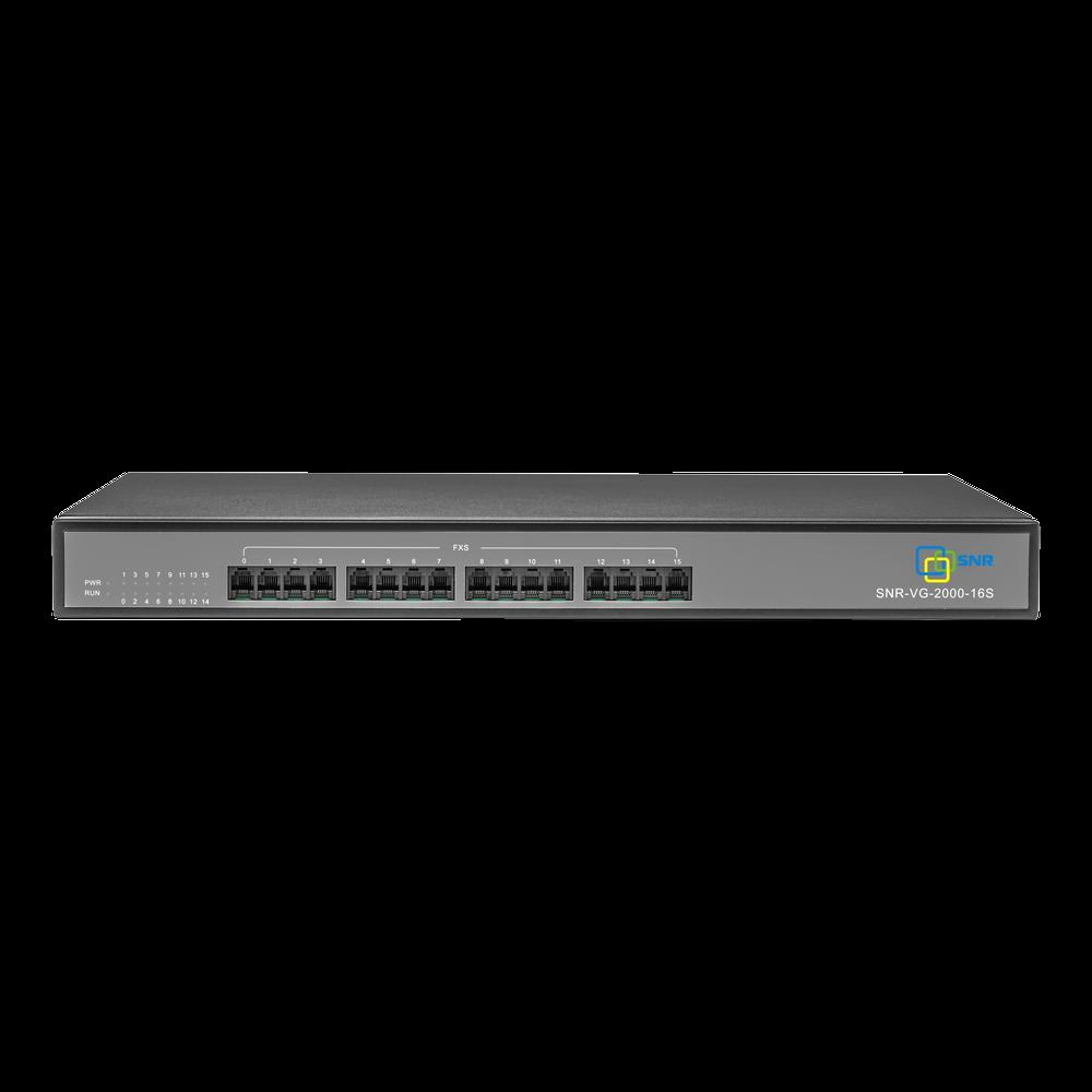 Шлюз VoIP SNR, 16 FXS, 4 RJ45, 16 SIP аккаунтов