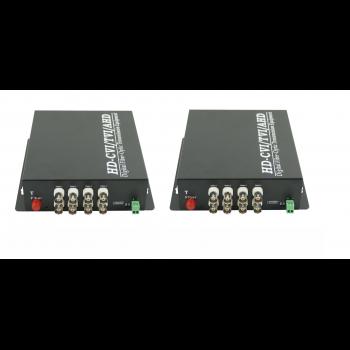Передатчик видеосигнала SNR-VOE-8VHD-2PS оптический 8-канальный(пара) HD в комплекте с двумя БП 5 В