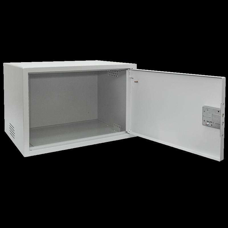 Антивандальный шкаф, тип-распашной высота 6U, глубина 600 мм